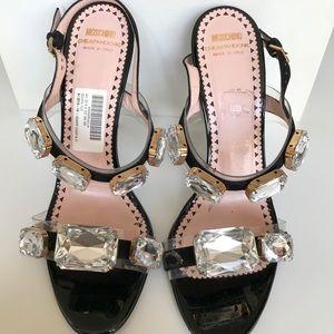 Moschino giant Swarovski stiletto sandals